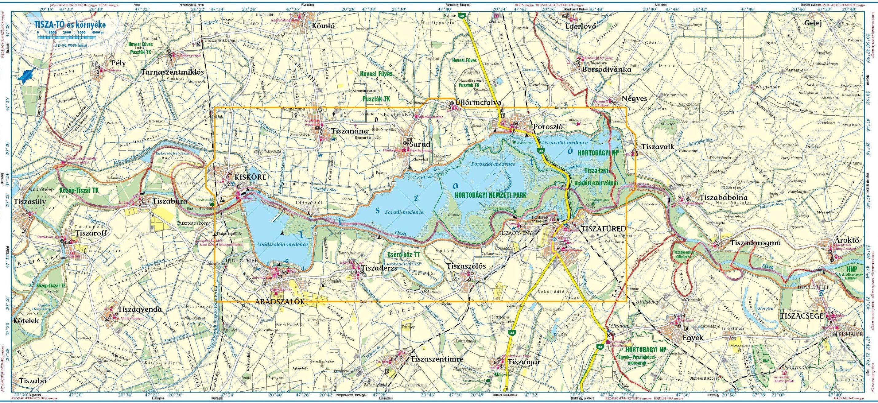 magyarország tisza tó térkép Tourinform | Tiszacsege magyarország tisza tó térkép