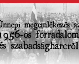 1956-os megemlékezés és koszorúzás