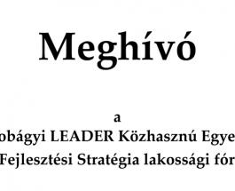 Meghívó LEADER fórumra