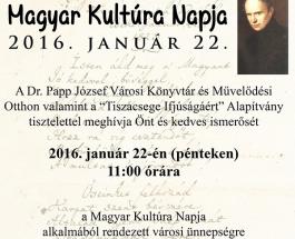 Meghívó – A Magyar Kultúra Napja