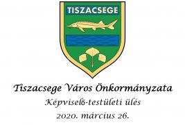 Képviselő-testületi ülés – 2020. március 26.