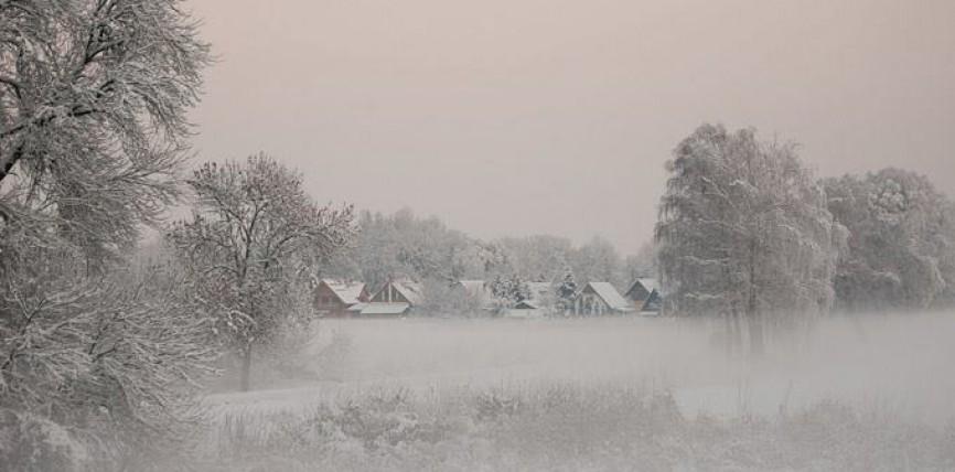 Tiszacsege – Téli tájkép
