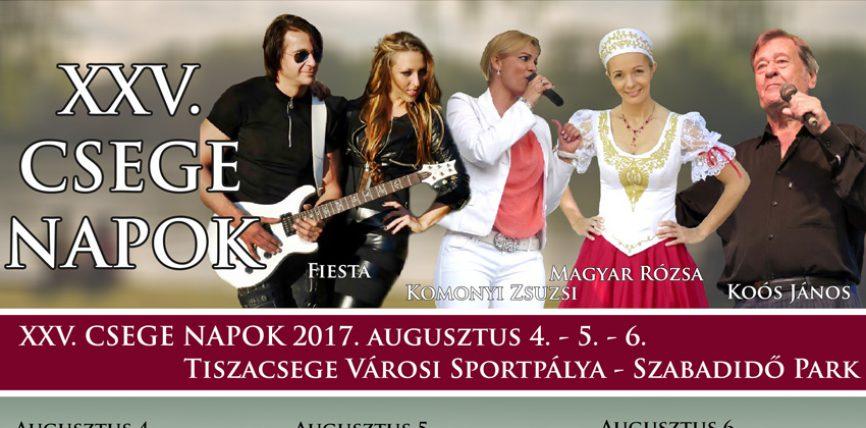Csege Napok 2017. augusztus 4-5-6.