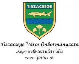 Képviselő-testületi ülés – 2020. július 16.