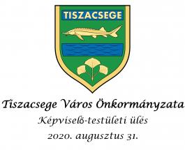 Soron kívüli képviselő-testületi ülés – 2020. augusztus 31.