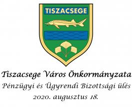 Pénzügyi és Ügyrendi Bizottsági ülés – 2020. augusztus 18.