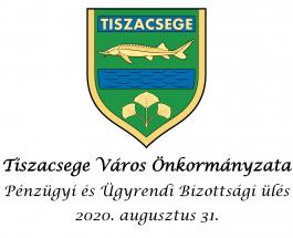 Pénzügyi és Ügyrendi Bizottsági ülés – 2020. augusztus 31.