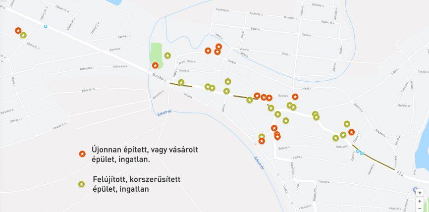 Fejlesztések, felújítások térképes megjelenítése